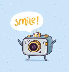 Smile photo vector image vector image