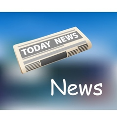 Todays news newspaper icon vector image vector image