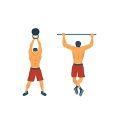 Training in the gym vector image vector image
