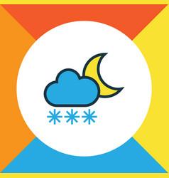 Twilight colorful outline symbol premium quality vector