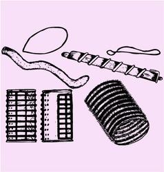 velcro rollers curler vector image vector image