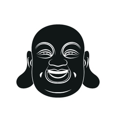 Head of fat buddha isolated vector