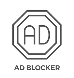 Ad blocker icon vector