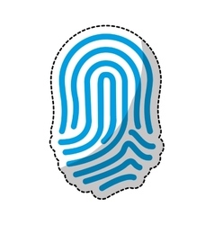Fingerprint blue icon image vector