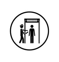 Isolated pictogram passenger design vector
