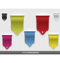 Stylish bookmarks vector