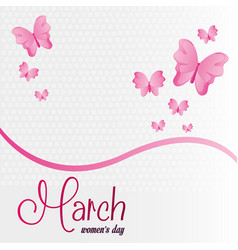march womens day celebration vector image