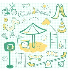 Cartoon children playground icon vector image
