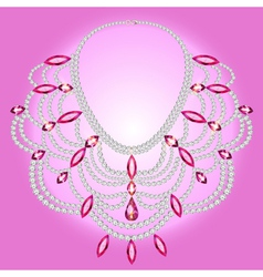 Feminine vintage necklace vector