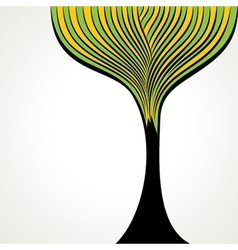 Creative green tree vector
