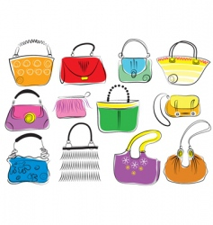 Fashion bags vector