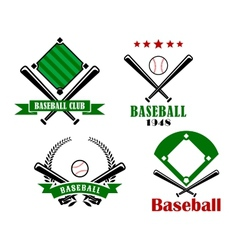 Baseball sporting emblems or badges vector