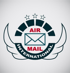 Stamp Air mail vector image