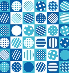 Blue geometrical background with squares and vector image