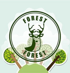 Forest concept vector
