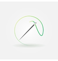 Needle bright logo vector