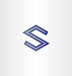 Letter s geometrical icon vector