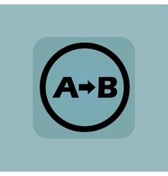 Pale blue a b sign vector
