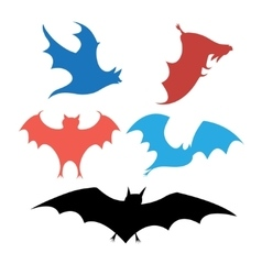 Graphic set of bats vector