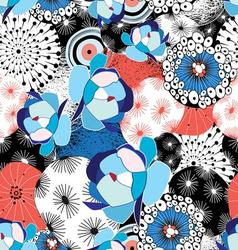 Graphic beautiful pattern of flowers and abstract vector