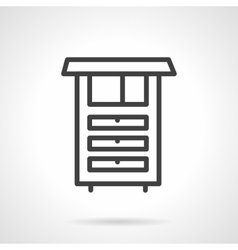 Kitchen furniture simple line icon vector