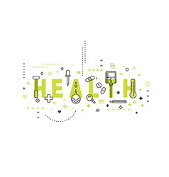 Medicine concept design health vector