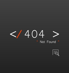 Abstract background 404 connection error vector image