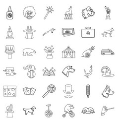 animal health icons set outline style vector image vector image