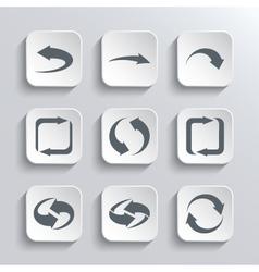 Arrows Web Icons Set vector image vector image