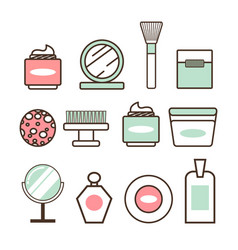 Beauty tools and means minimalistic vector