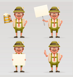 beer mug alcohol beverage cute oktoberfest vector image vector image
