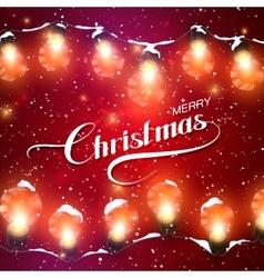 Christmas Lights Holiday vector image