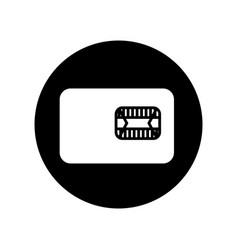 Coin slot isolated icon vector