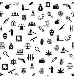 Crime and justice seamless pattern vector