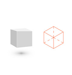 cube is a geometric figure hipster fashion vector image vector image