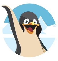 Cute cartoon penguin portrait vector