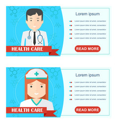 doctor health care poster vector image vector image