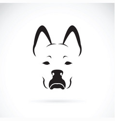 dog face on white background pet animal vector image vector image
