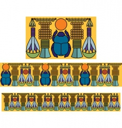 Egyptian antique pattern vector