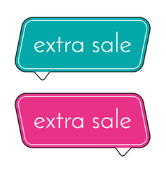Extra sale green and pink banner vector