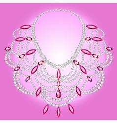 feminine vintage necklace vector image vector image