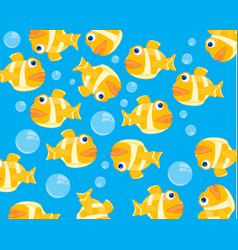 Fish and bubble in water vector