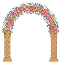 Floral design arc vector
