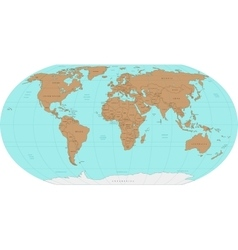 Highly detailed world map vector
