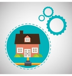 Home automation design smart house icon house vector image vector image