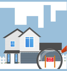 House concept for sale house flat icon design vector