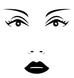 isolated woman face vector image