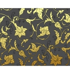 Luxury Golden Seamless Wallpaper Pattern vector image vector image