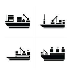 Transport boat icons vector