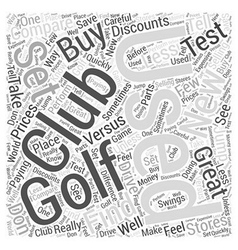 Used golf clubs word cloud concept vector